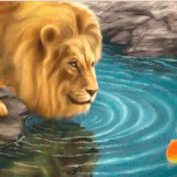 Басня про Льва и Рыбку.